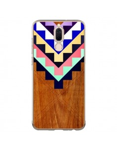 Coque Huawei Mate 10 Lite Wooden Tribal Bois Azteque Aztec Tribal - Jenny Mhairi