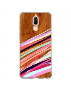 Coque Huawei Mate 10 Lite Wooden Waves Coral Bois Azteque Aztec Tribal - Jenny Mhairi
