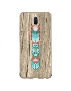 Coque Huawei Mate 10 Lite Totem Tribal Azteque Bois Wood - Jonathan Perez