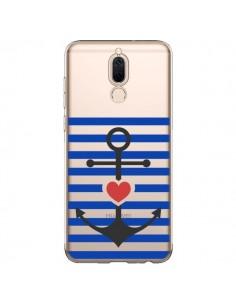 Coque Huawei Mate 10 Lite Mariniere Ancre Marin Coeur Transparente - Jonathan Perez