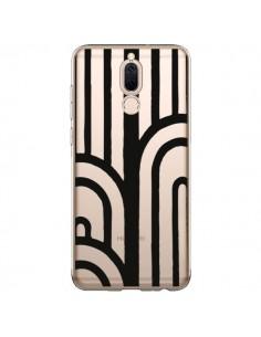 Coque Huawei Mate 10 Lite Geometric Noir Transparente - Dricia Do