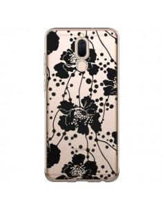 Coque Huawei Mate 10 Lite Fleurs Noirs Flower Transparente - Dricia Do