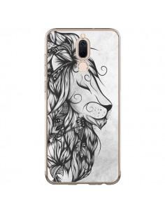Coque Huawei Mate 10 Lite Poetic Lion Noir Blanc - LouJah