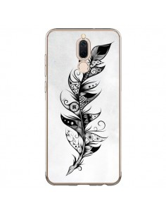 Coque Huawei Mate 10 Lite Feather Plume Noir et Blanc - LouJah