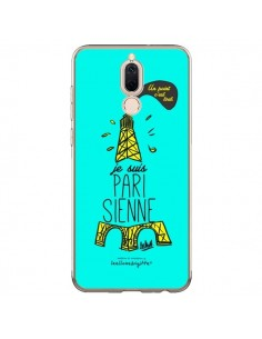 Coque Huawei Mate 10 Lite Je suis Parisienne La Tour Eiffel Bleu - Leellouebrigitte