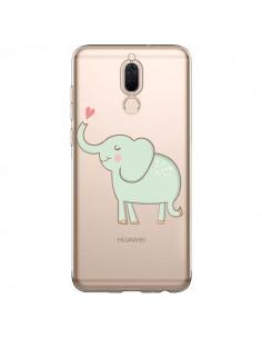 Coque Huawei Mate 10 Lite Elephant Elefant Animal Coeur Love Transparente - Petit Griffin