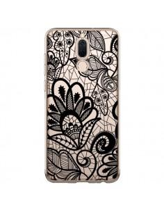 Coque Huawei Mate 10 Lite Lace Fleur Flower Noir Transparente - Petit Griffin