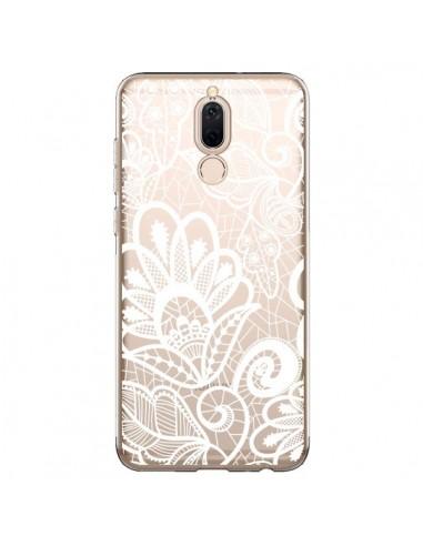 Coque Huawei Mate 10 Lite Lace Fleur Flower Blanc Transparente - Petit Griffin