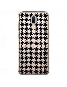 Coque Huawei Mate 10 Lite Vichy Carre Noir Transparente - Petit Griffin