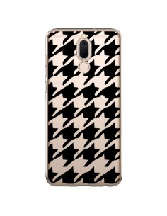 Coque Huawei Mate 10 Lite Vichy Gros Carre noir Transparente - Petit Griffin