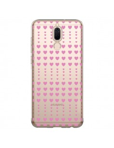 Coque Huawei Mate 10 Lite Coeurs Heart Love Amour Rose Transparente - Petit Griffin