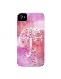 Coque Parapluie Coeur Love Amour pour iPhone 4 et 4S - Sylvia Cook