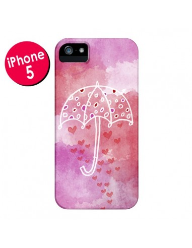 Coque Parapluie Coeur Love Amour pour iPhone 5 et 5S - Sylvia Cook