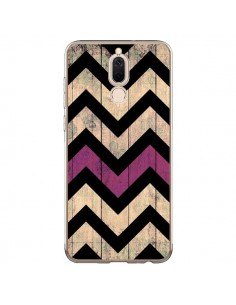 Coque Huawei Mate 10 Lite Chevron Vintage Bois Wood - Mary Nesrala