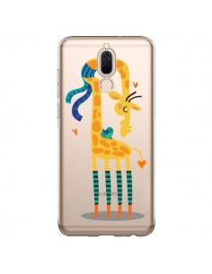 Coque Huawei Mate 10 Lite L'oiseau et la Girafe Amour Love Transparente - Maria Jose Da Luz