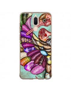 Coque Huawei Mate 10 Lite Paon Multicolore Eco Bird - Maximilian San