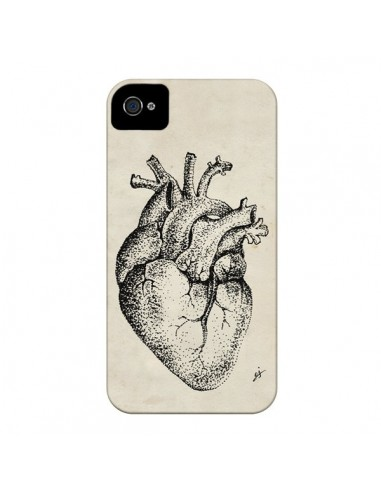 Coque Coeur Vintage pour iPhone 4 et 4S - Tipsy Eyes