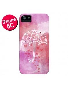 Coque Parapluie Coeur Love Amour pour iPhone 5C - Sylvia Cook