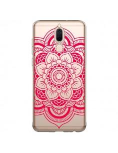 Coque Huawei Mate 10 Lite Mandala Rose Fushia Azteque Transparente - Nico
