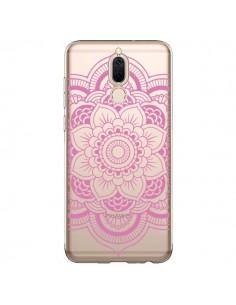 Coque Huawei Mate 10 Lite Mandala Rose Clair Azteque Transparente - Nico