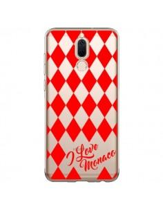 Coque Huawei Mate 10 Lite I Love Monaco et Losange Rouge - Nico