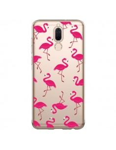 Coque Huawei Mate 10 Lite flamant Rose et Flamingo Transparente - Nico