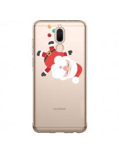 Coque Huawei Mate 10 Lite Père Noël et sa Guirlande transparente - Nico