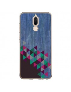 Coque Huawei Mate 10 Lite Wood Bois Azteque Triangles Archiwoo - Pura Vida