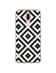 Coque Huawei Mate 10 Lite Diamond Chevron Black and White - Pura Vida