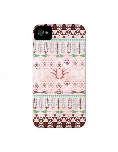 Coque Amadahy Cerf Azteque pour iPhone 4 et 4S - Monica Martinez