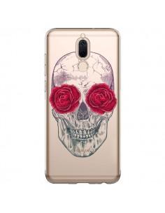 Coque Huawei Mate 10 Lite Tête de Mort Rose Fleurs Transparente - Rachel Caldwell
