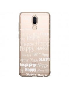Coque Huawei Mate 10 Lite Happy Happy Blanc Transparente - R Delean