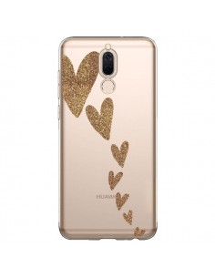 Coque Huawei Mate 10 Lite Coeur Falling Gold Hearts Transparente - Sylvia Cook