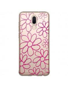 Coque Huawei Mate 10 Lite Flower Garden Pink Fleur Transparente - Sylvia Cook