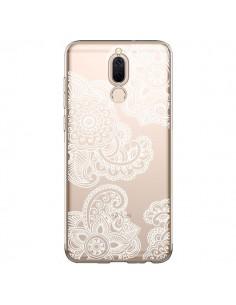 Coque Huawei Mate 10 Lite Lacey Paisley Mandala Blanc Fleur Transparente - Sylvia Cook