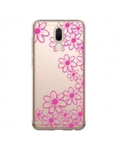 Coque Huawei Mate 10 Lite Pink Flowers Fleurs Roses Transparente - Sylvia Cook