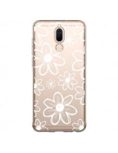Coque Huawei Mate 10 Lite Mandala Blanc White Flower Transparente - Sylvia Cook