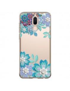 Coque Huawei Mate 10 Lite Winter Flower Bleu, Fleurs d'Hiver Transparente - Sylvia Cook