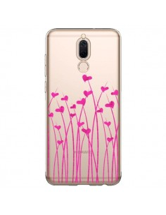 Coque Huawei Mate 10 Lite Love in Pink Amour Rose Fleur Transparente - Sylvia Cook