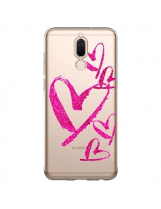 Coque Huawei Mate 10 Lite Pink Heart Coeur Rose Transparente - Sylvia Cook