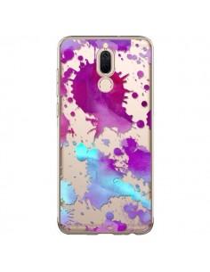 Coque Huawei Mate 10 Lite Watercolor Splash Taches Bleu Violet Transparente - Sylvia Cook