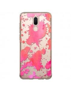 Coque Huawei Mate 10 Lite Watercolor Splash Taches Rose Orange Transparente - Sylvia Cook