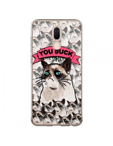 Coque Huawei Mate 10 Lite Chat Grumpy Cat - You Suck - Sara Eshak