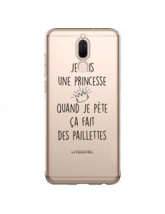Coque Huawei Mate 10 Lite Je suis une princesse quand je pète ça fait des paillettes Transparente - Les Vilaines Filles