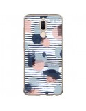 Coque Huawei Mate 10 Lite Watercolor Stains Stripes Navy - Ninola Design