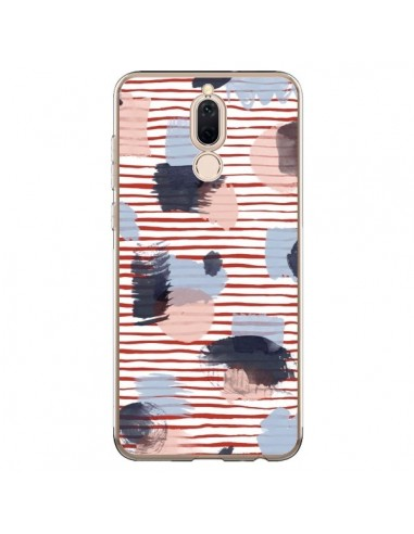 Coque Huawei Mate 10 Lite Watercolor Stains Stripes Red - Ninola Design