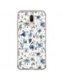 Coque Huawei Mate 10 Lite Watery Hibiscus Blue - Ninola Design