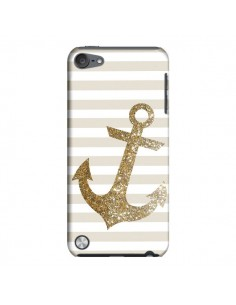 Coque Ancre Or Navire pour iPod Touch 5 - Monica Martinez