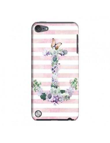 Coque Ancre Rose Fleurs Navire pour iPod Touch 5 - Monica Martinez