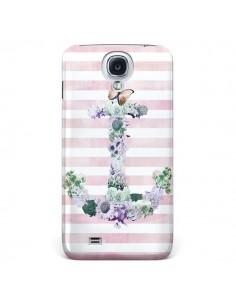 Coque Ancre Rose Fleurs Navire pour Samsung Galaxy S4 - Monica Martinez